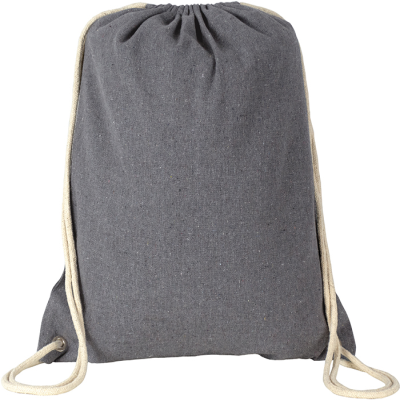 RECYCLED NEWCHURCH RECYCLED DRAWSTRING BAG in Grey.