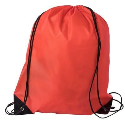 DRAWSTRING SPORTS BAG in Red.