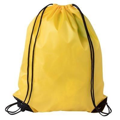 DRAWSTRING SPORTS BAG in Yellow.
