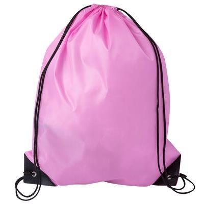 DRAWSTRING SPORTS BAG in Pink.