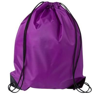 DRAWSTRING SPORTS BAG in Purple.