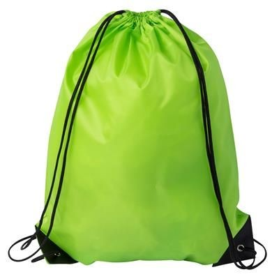 DRAWSTRING SPORTS BAG in Lime Green.