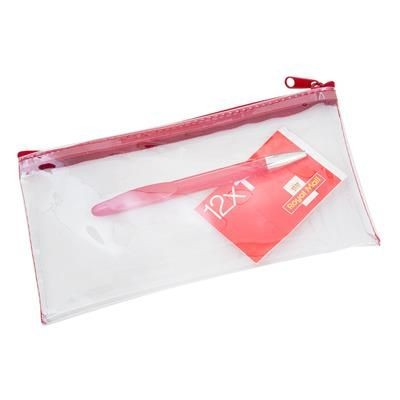 LEXICON PENCIL CASE in Clear-red.