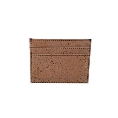 CORK DOUBLE SIDED CARD HOLDER.