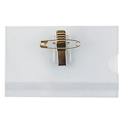 Picture of CONFERENCE BADGE HOLDER with Pin-clip Combo - 61 x 90mm Insert