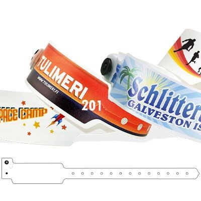 Picture of CUSTOM FULL-COLOUR PLASTIC WRISTBAND 25MM WIDE