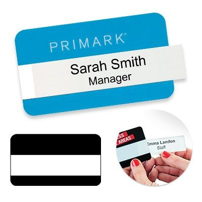 Picture of REUSABLE SELFIT® DOUBLE LINE NAME BADGE 70 X 40MM