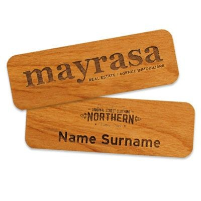 Picture of IMPRESS WOOD NAME BADGE 75 X 25MM