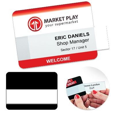 Picture of REUSABLE SELFIT® MULTI LINE NAME BADGE 75 X 55MM