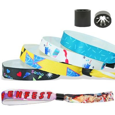 Picture of SMOOTH SATIN WRISTBAND with Plastic Sliding Clip Closure