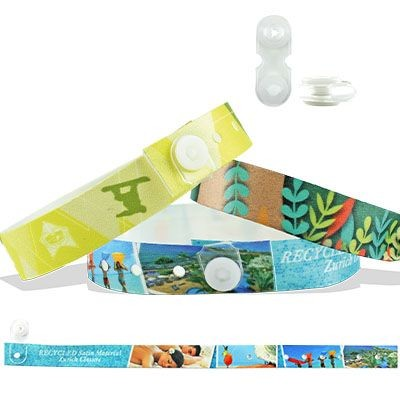 Picture of RECYCLED PET Satin Wristband with Zurich Closure