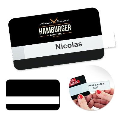 Picture of REUSABLE SELFIT® SINGLE LINE NAME BADGE 70 X 40MM