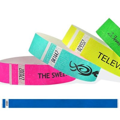 Picture of BLACK PRINT TYVEK WRISTBAND 19MM