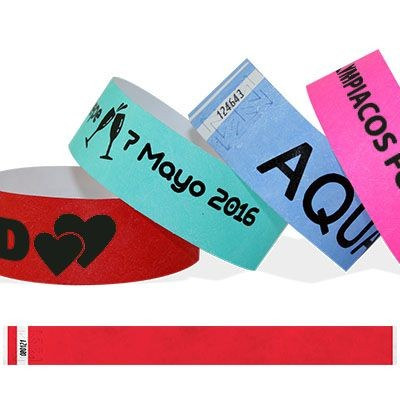Picture of BLACK PRINT TYVEK WRISTBAND 25MM