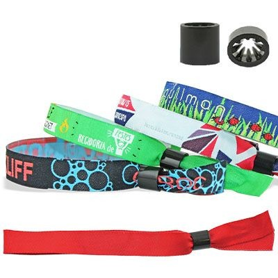 Picture of WOVEN WRISTBAND with Plastic Sliding Clip Closure