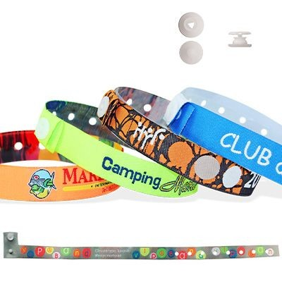 Picture of WOVEN WRISTBAND with Plastic Slim Round Clip Closure Tenerife
