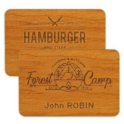 Picture of IMPRESS WOOD NAME BADGE 75 X 50MM