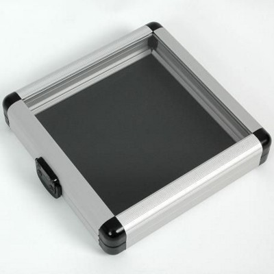 Picture of CD HOLDER CASE in Black with Clear Transparent Lid