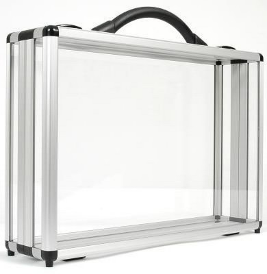 Picture of DIVIDE 100 CLEAR TRANSPARENT PRESENTATION BRIEFCASE