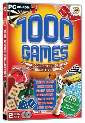 Picture of CD ROM - 1000 GAMES VOL 1