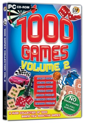 Picture of CD ROM - 1000 GAMES VOL 2
