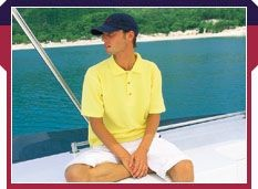 Picture of ZIP AROUND NECK POLO SHIRT
