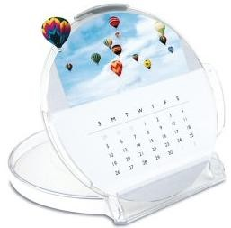 Picture of DESK CALENDAR in ROUND CLEAR CD CASE