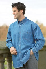 Picture of DENIM SHIRT in Blue