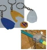 Picture of PLASTIC WISHBONE SHAPE TROLLEY CHIP COIN KEYRING