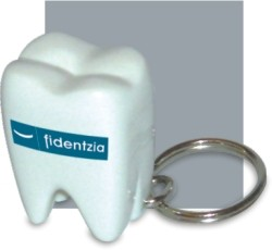 Picture of TOOTH KEYRING in White