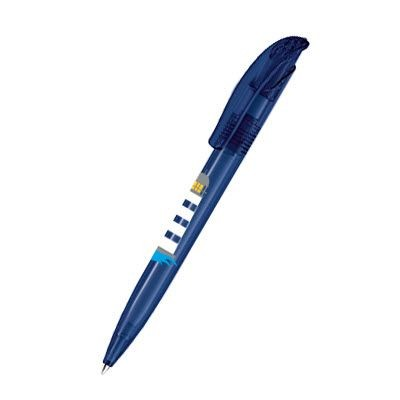 Picture of SENATOR CHALLENGER FROSTED PLASTIC BALL PEN in Dark Blue