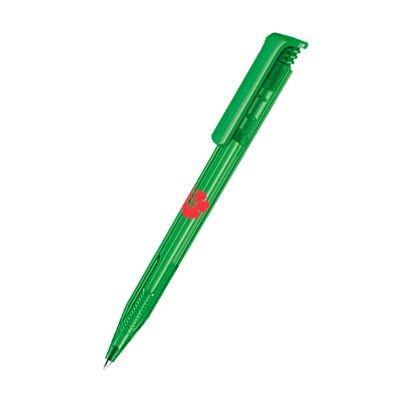 Picture of SENATOR SUPER HIT CLEAR TRANSPARENT PLASTIC BALL PEN in Vivid Green