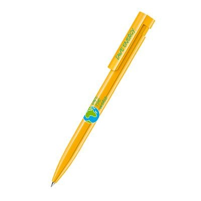 Picture of SENATOR LIBERTY POLISHED PLASTIC BALL PEN in Honey Yellow