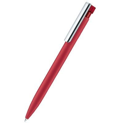 Picture of SENATOR LIBERTY SOFT TOUCH BALL PEN with Metal Clip in Cherry Red
