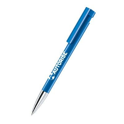 Picture of SENATOR LIBERTY POLISHED PLASTIC BALL PEN with Metallised Tip in Full Blue