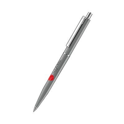 Picture of SENATOR POINT POLISHED PLASTIC BALL PEN in Cool Grey 9