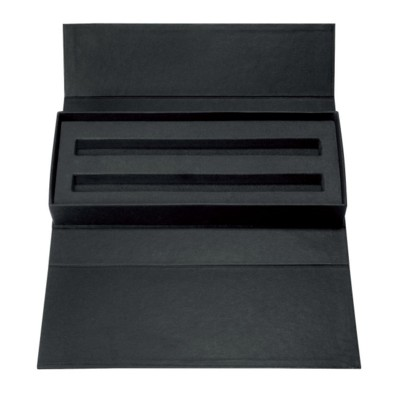 Picture of SENATOR WAVE CARDBOARD CARD GIFT BOX in Matt Black