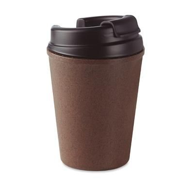 Picture of DOUBLE WALLED COFFEE MUG 50% COFFEE HUSK AND 50% PP