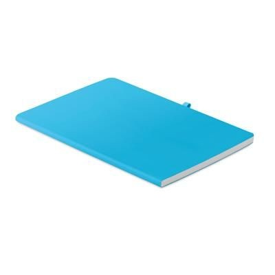Picture of A5 SOFT PU COVER with 60 x Sheet Lined Paper with Ribbon & Pen-loop