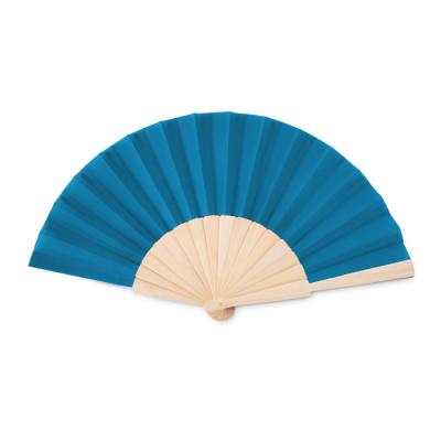 Picture of MANUAL HAND FAN in Wood with Polyester Fabric