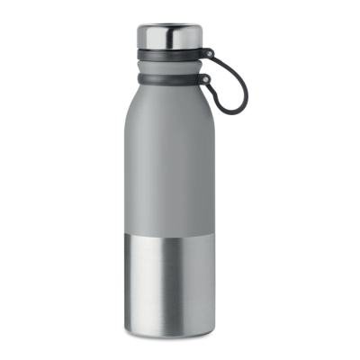 Picture of DOUBLE WALL STAINLESS STEEL METAL POWDER COATED FLASK with Silicon Grip for Easy Carry
