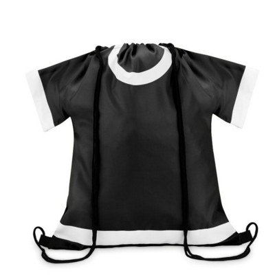 Picture of TEE SHIRT SHAPE DRAWSTRING BAG in 210d Polyester