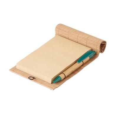 Picture of BAMBOO 80 SHEET NOTE BOOK with Bamboo Pen Abs Parts
