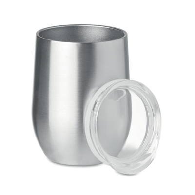 Picture of 350ML POWDER COATED DOUBLE WALL STAINLESS STEEL METAL 304 18-8 MUG