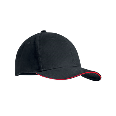 Picture of 6 PANEL BASEBALL CAP in Brushed Heavy Cotton with Adjustable Metal Buckle with Tuck-in Slit