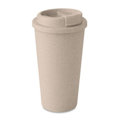 Picture of DOUBLE WALL TUMBLER in 50% Bamboo Fibre & 50% Pp with Lid