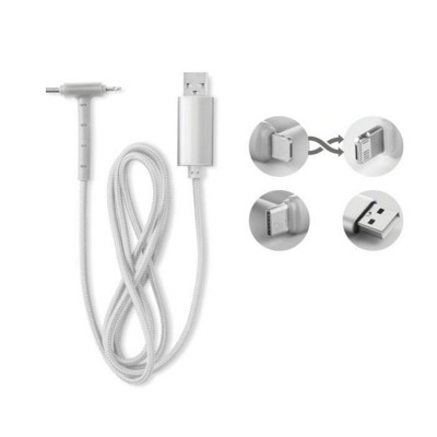Picture of CHARGER CABLE with Usb-a to Micro-b Two in One Pin & Type-c with Phone Stand Functionality