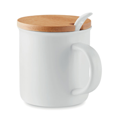 Picture of PORCELAIN MUG with Spoon
