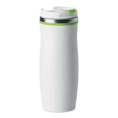Picture of DOUBLE WALL STAINLESS STEEL METAL MUG with Pp Twist Lid