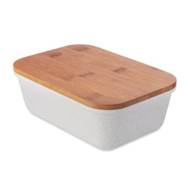 Picture of LUNCH OR SANDWICH BOX in 50% Bamboo Fibre & 50% Pp